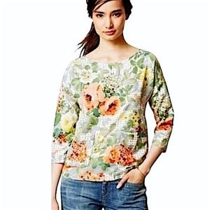 Anthropology - HD Paris Floral Bloomfield top M